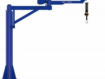 某工厂安装智能折臂吊